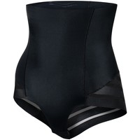 Sous-vêtements Femme Culottes gainantes Julimex Gaine taille très haute avec rayures Shape chic Noir Noir