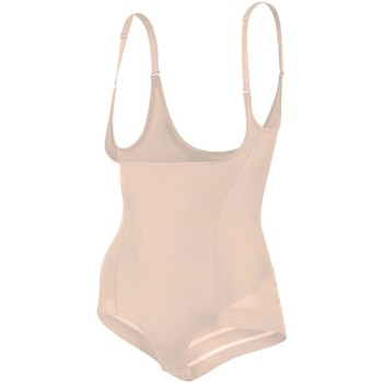 Sous-vêtements Femme Produits gainants Julimex Gaine à rayures avec bretelles Shape chic Nude Beige
