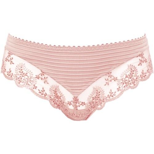 Sous-vêtements Femme Strings Louisa Bracq String brésilien chic Elise Nude Rosé Rose