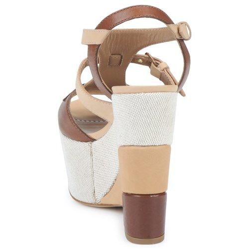 Sterlizia Beige Et Sandales Chic Moschino Femme marron pieds Nu Cheapamp; 80knPXOw