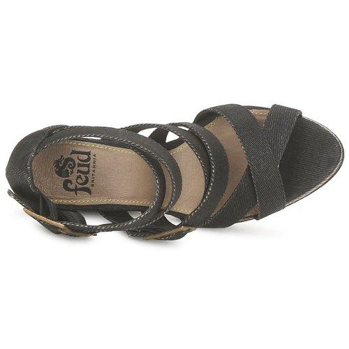 Feud Sandales Et pieds Wasp Noir Femme Nu 8XkwPNn0O