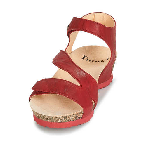 Chaussures Sandales pieds Wang Femme Nu Rouge Et Think OiTZkXuwP