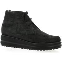 Chaussures Femme Boots Elizabeth Stuart Derby cuir laminé Noir