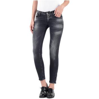 49e1470b61 Vêtements Femme Jeans slim Le Temps des Cerises Jeans Femme PULPWSS347 Noir  38