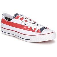 Chaussures Baskets basses Converse ALL STAR STARS & BARS OX Blanc / Bleu / Rouge