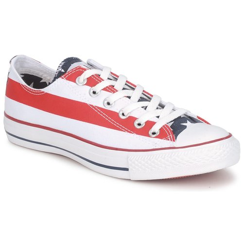 Chaussures Baskets basses Converse ALL STAR STARS & BARS OX Blanc / Bleu / Rouge