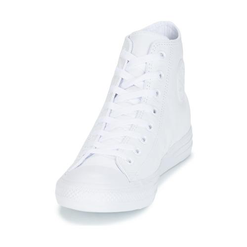 Star Baskets Cuir Montantes Hi Converse Chuck Taylor All Blanc WYH2ED9eIb