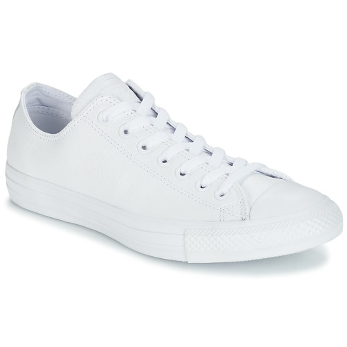 fb66a0ead1214 Chaussures Baskets basses Converse CHUCK TAYLOR ALL STAR CUIR OX Blanc