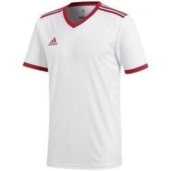 Vêtements Homme T-shirts manches courtes adidas Originals Tabela 18 Climalite blanc