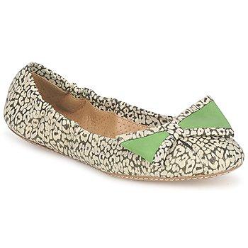 Chaussures Femme Ballerines / babies Maloles BLANCHE Noir / Blanc / Vert