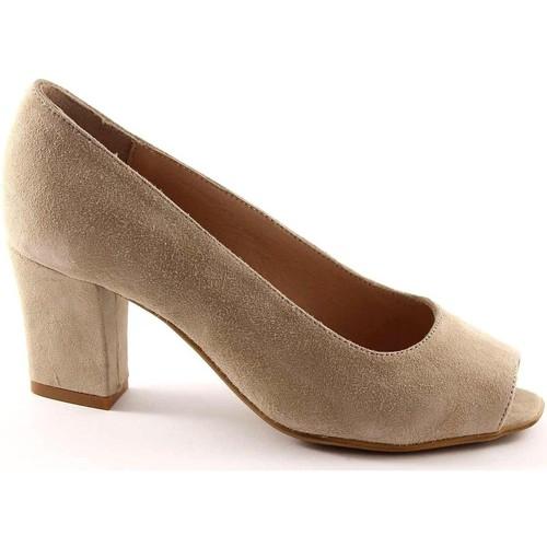 Chaussures Femme Escarpins Grunland Grünland BEND SC1142 beige chaussures en daim femme surgit dcoll Beige