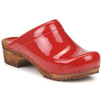 Chaussures Femme Sabots Sanita CLASSIC PATENT Rouge