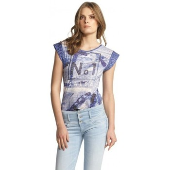 Vêtements Femme T-shirts manches courtes Salsa T Shirt  Maiorca bleu exotique 112258 Bleu