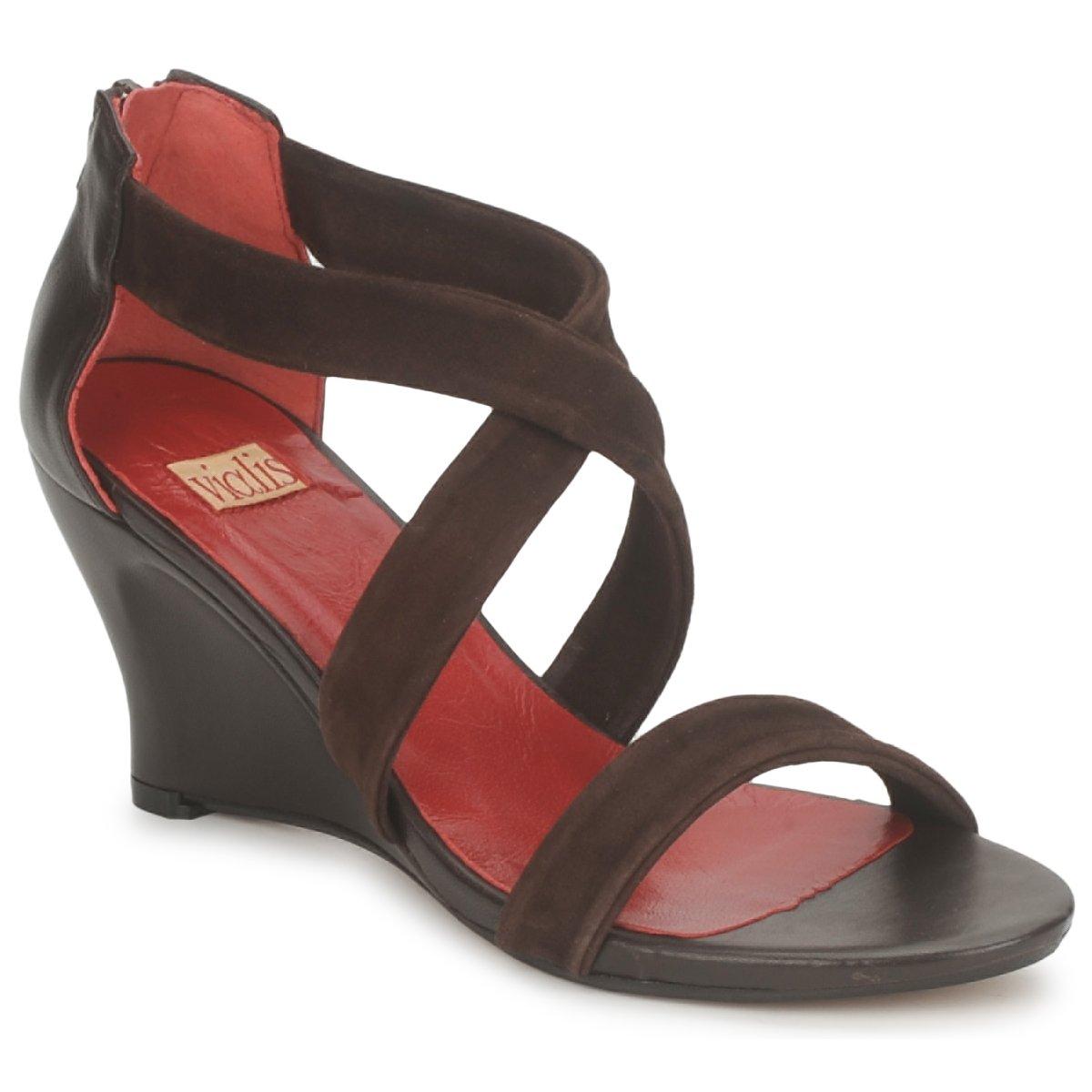 Vialis NIVEL Marron - Livraison Gratuite avec  - Chaussures Sandale Femme
