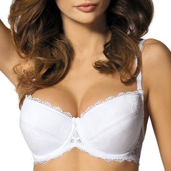 Sous-vêtements Femme Rembourrés Gorteks Push-Up Linda Blanc coussinets & bretelles amovibles Blanc