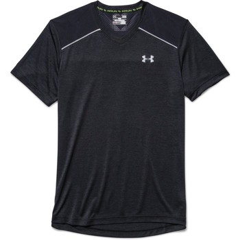 Vêtements Homme T-shirts manches courtes Under Armour Launch armour vent tee Black