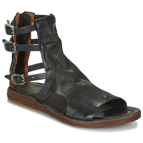 7d29a034e03584 Chaussures Femme Sandales et Nu-pieds Airstep / A.S.98 RAMOS BRIDES Noir