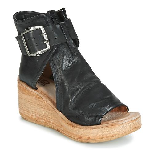 98 Nu Noa Buckle Noir AirstepA s Sandales Et Femme pieds jRq543AL