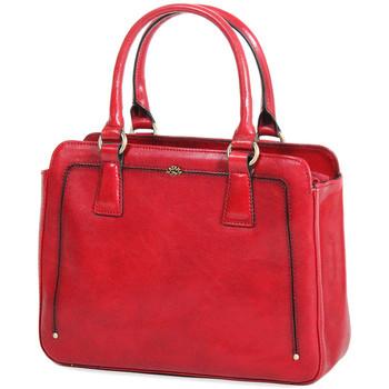Sacs Femme Sacs porté main Katana Sac a Main Cuir De Vachette Collet Vegetal 66804 Rouge