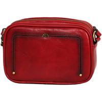 Sacs Femme Pochettes / Sacoches Katana Pochette en Cuir de Vachette Collet Vegetal 66821 Rouge