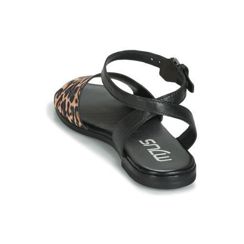 Sandales Et Chat Femme Leo Nu Mjus NoirLéopard pieds l1c5FJuTK3