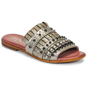 Chaussures Femme Mules Mjus CHAT MULE Kaki / Métal