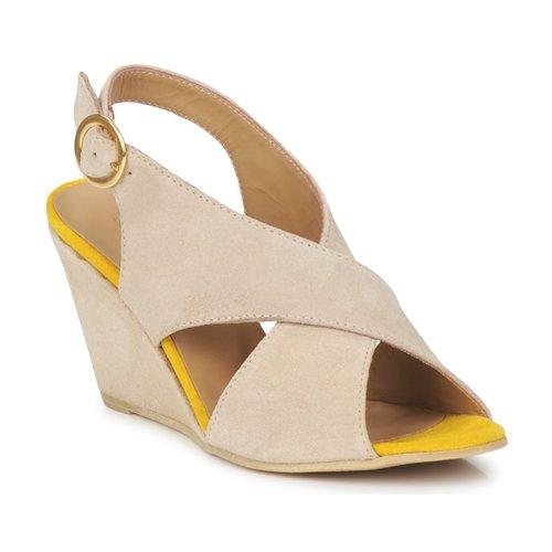 Sandale Pieces OTTINE SHOP SANDAL Taupe 350x350
