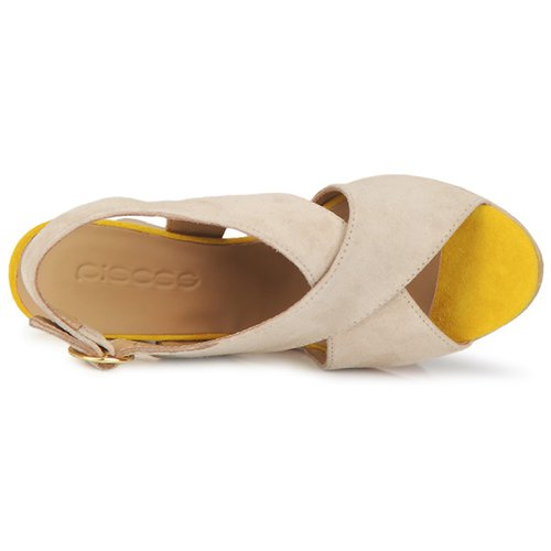 Ottine Et Sandal Pieces Nu pieds Taupe Sandales Femme Shop yP8nwvNOm0