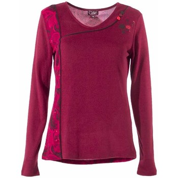 Vêtements Femme T-shirts manches longues Coline Tee shirt maille manches longues Framboise