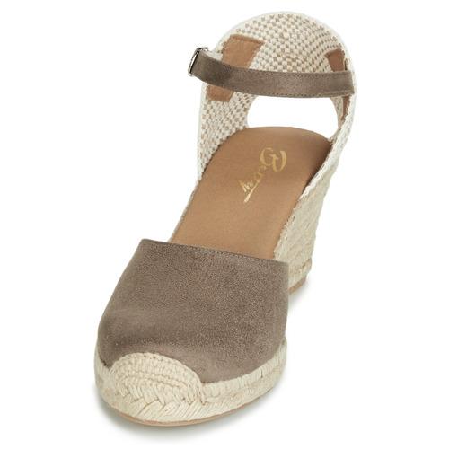 London Femme pieds Taupe Sandales Betty Et Nu Cassia n8OwPk0