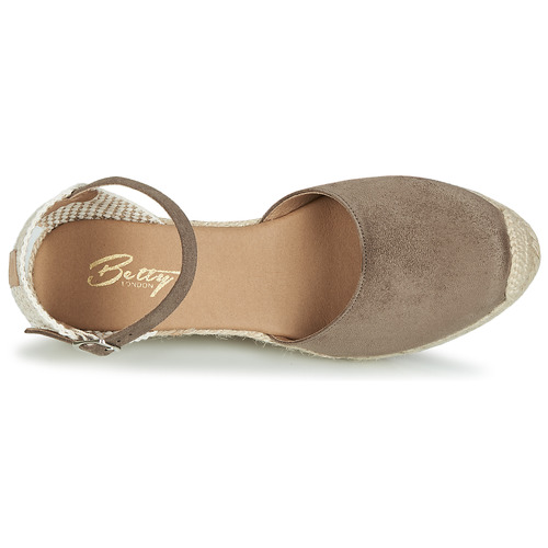 Betty Et Cassia Taupe Sandales pieds London Nu Femme k0O8nwP