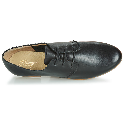 Derbies Noir Betty Femme Jikotefe London hrtCsQd
