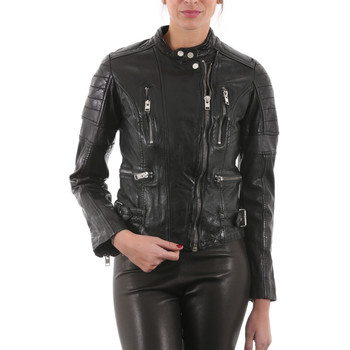 Vêtements Femme Vestes en cuir / synthétiques Gipsy Megyn Noir Noir