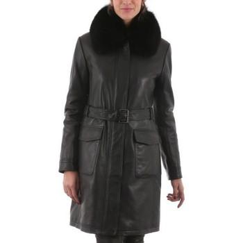 Vêtements Femme Vestes en cuir / synthétiques Intuitions Paris April Noir (257) Noir