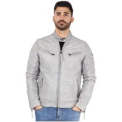 Vêtements Homme Blousons Redskins Blouson  Lynch Casting en cuir ref_trk37824 Cement gris