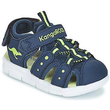 Chaussures Garçon Sandales et Nu-pieds Kangaroos K-MINI Marine / Jaune