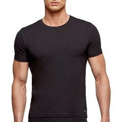 Vêtements Homme T-shirts manches courtes Impetus T-shirt noir tricot de peau homme régulateur de température Noir