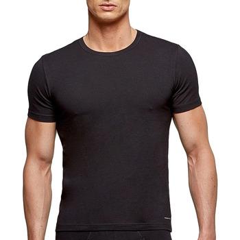 Vêtements Homme T-shirts manches courtes Impetus T-shirt col rond tricot de peau noir homme Noir