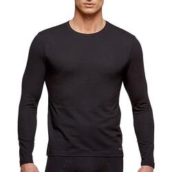 Vêtements Homme T-shirts manches longues Impetus Tricot de peau col rond manches longues noir homme Noir