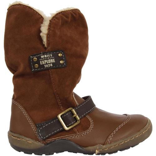 Chaussures Fille Bottes ville Flower Girl 191548-B2040 Marrón