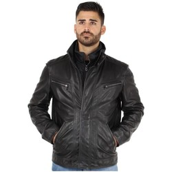 Vêtements Homme Blousons Daytona Blouson  shep malina en cuir ref_day41886 Noir noir