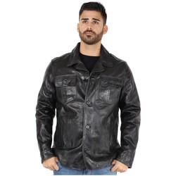 Vêtements Homme Blousons Daytona Blouson  Ralph en cuir ref_day30710 Noir Noir