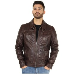 Vêtements Homme Blousons Daytona Blouson  sheep tiger en cuir ref_day30709 Brown marron