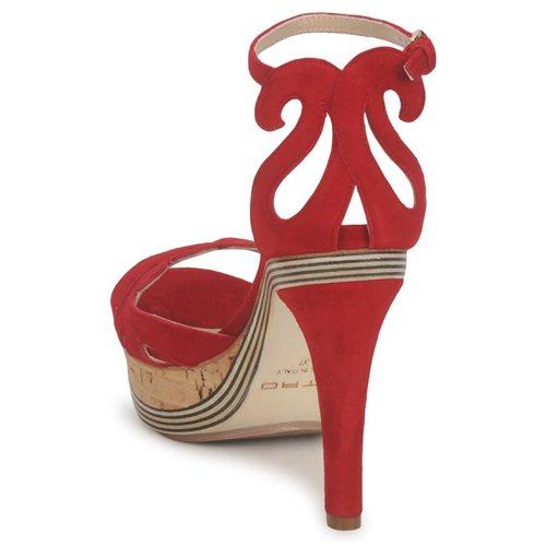 pieds Femme Sandales Rouge 3488 Nu Et Etro Y6vy7bfg