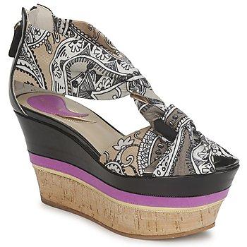 Sandale Etro 3467 Gris / Noir / Violet 350x350