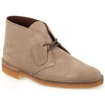 Chaussures Homme Ville basse Clarks Desert Boot loup chaussures en daim homme Beige