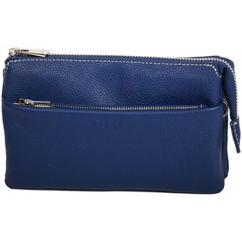 Sacs Femme Pochettes / Sacoches Katana Pochette en Cuir de Vachette graine 69600 Bleu
