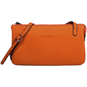 Sacs Femme Pochettes / Sacoches Katana Pochette en Cuir de Vachette graine 69903 Orange