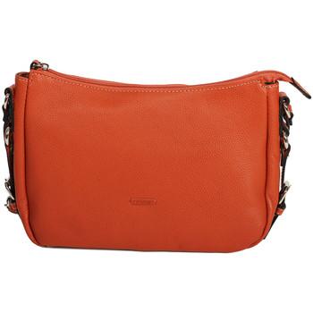 Sacs Femme Pochettes / Sacoches Katana Pochette en Cuir de Vachette graine 69904 Orange