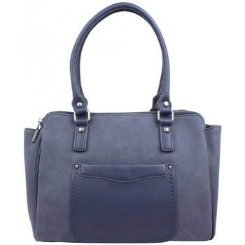Sacs Femme Sacs porté épaule Fuchsia Sac  Tina style carré déco sellier bleu marine Multicolor